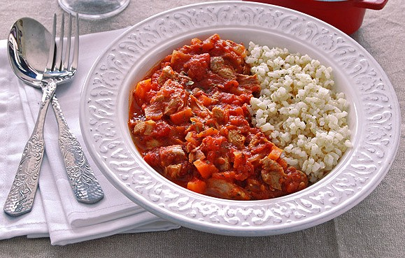 Как приготовить рагу из индейки с томатным соусом
