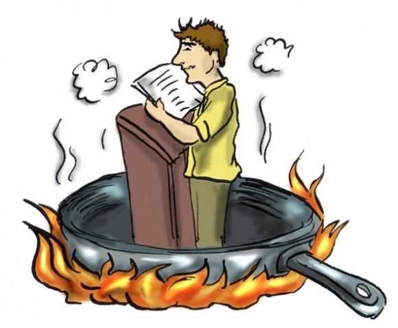 Страх сцены как ощущения человека на сковороде