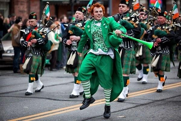 День святого Патрика отмечается во всем мире парадами
