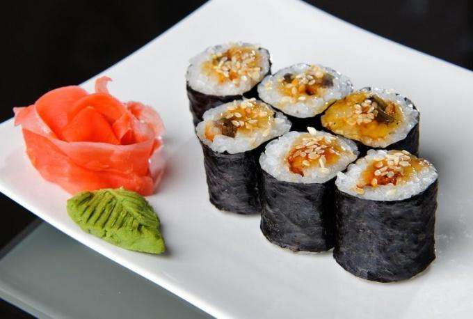 Сколько калорий в суши