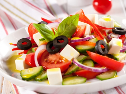 Recipes salads with fitaki cheese