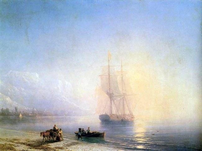 """И.К. Айвазовский, """"Спокойное море"""", 1863"""