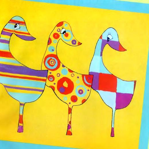 Как нарисовать гуся с помощью трафарета