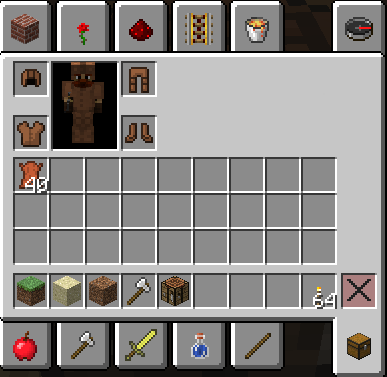 Wearing armor in Minecraft