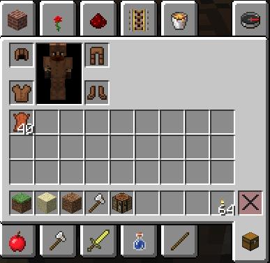 Одетая броня в Minecraft
