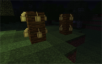 The cultivation of cocoa beans in Minecraft