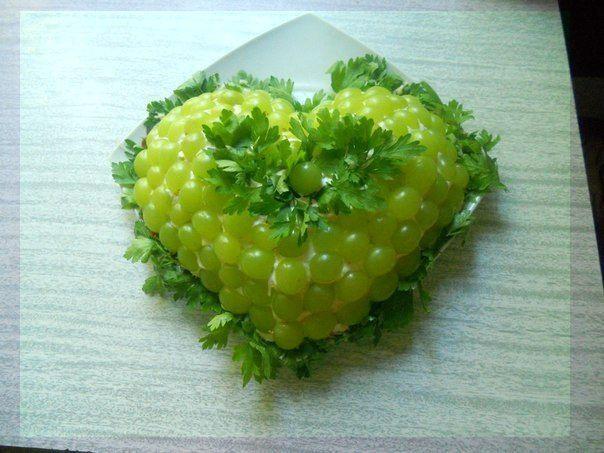 """вкусный слоеный салат """"Тиффани"""""""