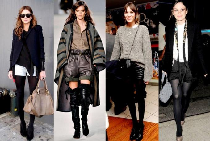 С чем можно носить шорты зимой