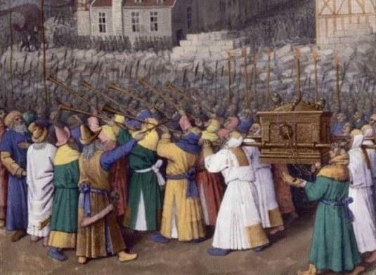 Взятие Иерихона. (фрагмент миниатюры Жана Фуке)