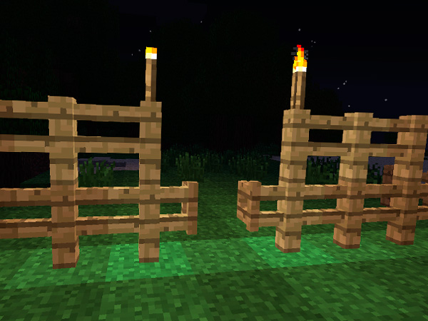 To make a fence in Minecraft
