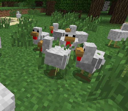 Курицы в Майнкрафте