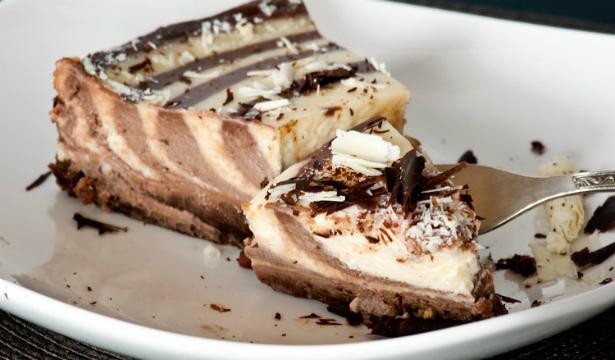 Мраморный творожный десерт