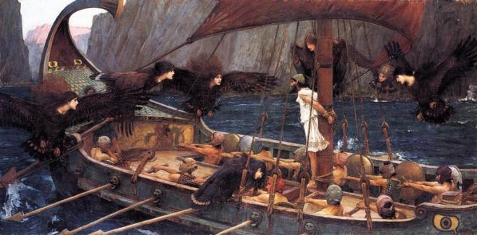 «Одиссея» Гомера - классический пример романа-эпопеи