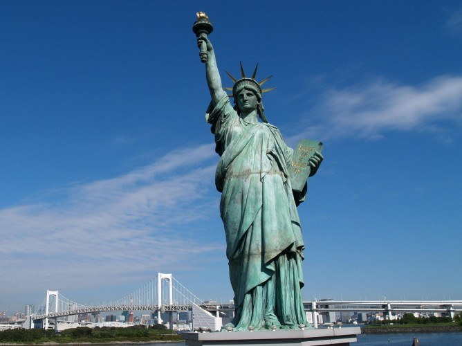 The statue of Liberty could be the symbol of liberalism