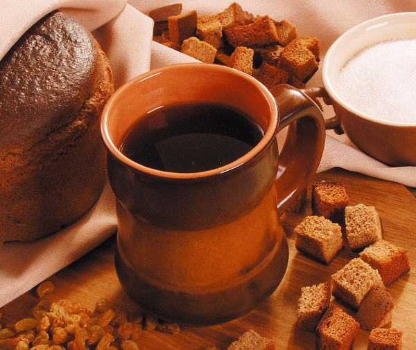 Kvass from rye bread