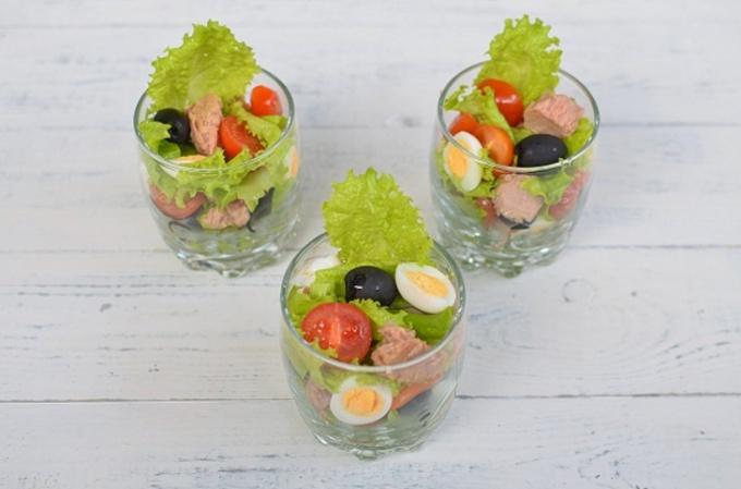 Салат с тунцом «Легкий»