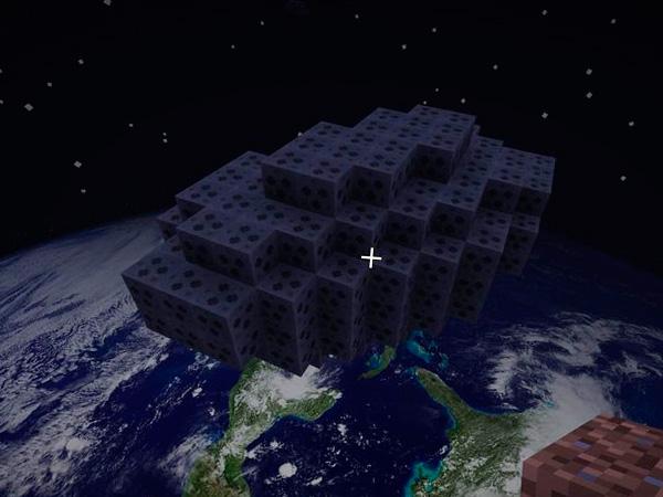 Сделать космос в Майнкрафте