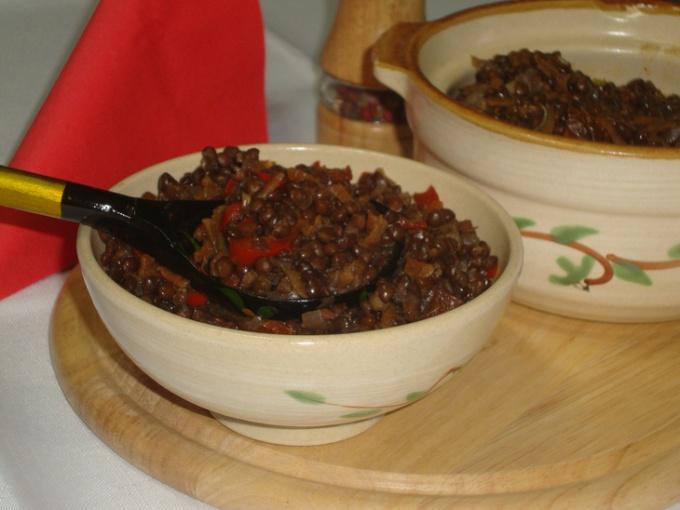 Чечевица с сушеными томатами
