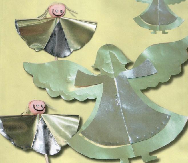 Как сделать ангела из фольги