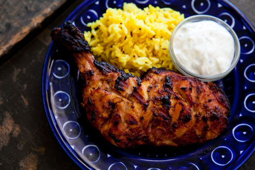 "Indian dish - ""Tandoori Chicken"""