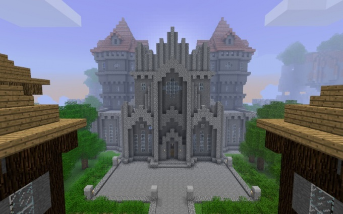 in minecraft build a castle