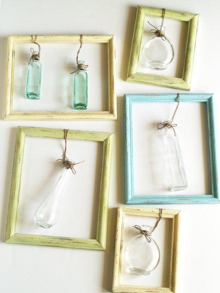 Как сделать рамку с вазой для цветов