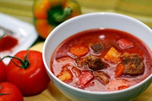 Суп-гуляш из говядины по-закарпатски