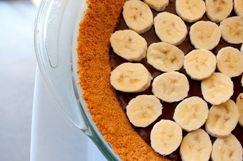 Пирог из бананов со сливочным соусом