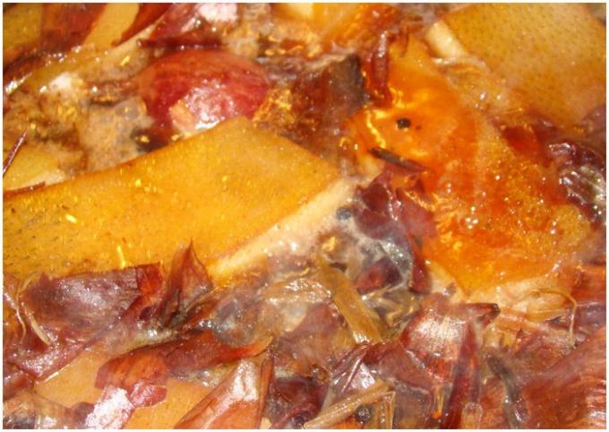 Как варить сало в шелухе лука