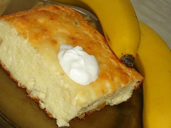 Творожная запеканка с бананами рецепт