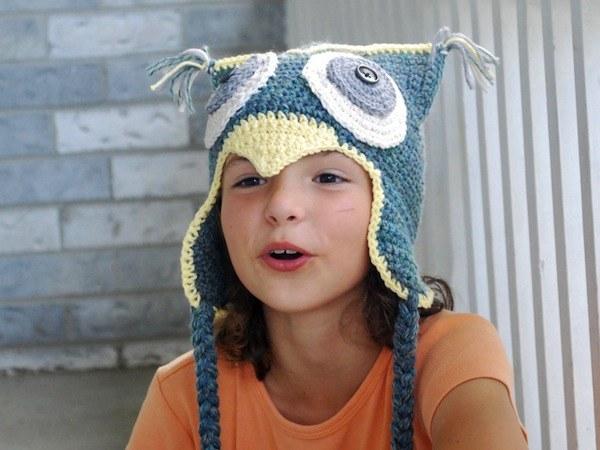 Необычная модель детской шапки
