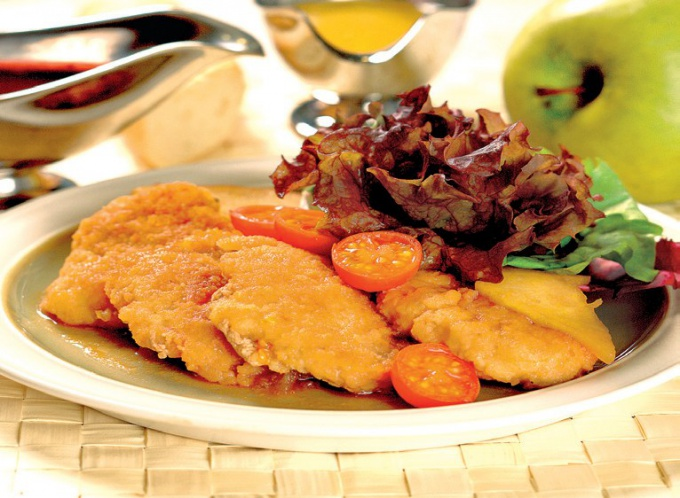 Aromatic crispy pork chop in batter certainly will appeal to lovers of good food