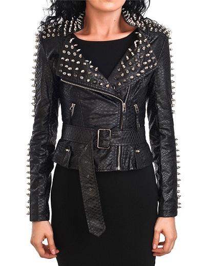 Женские куртки с шипами