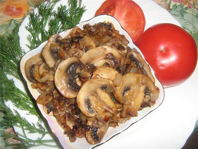 Как приготовить грибы в майонезе
