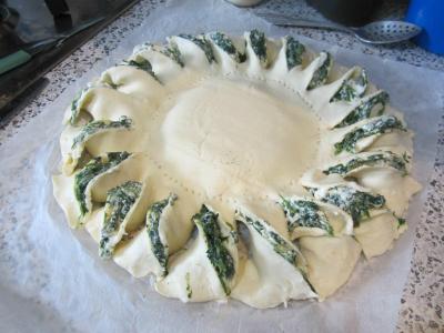 Оригинальный пирог «Солнце»