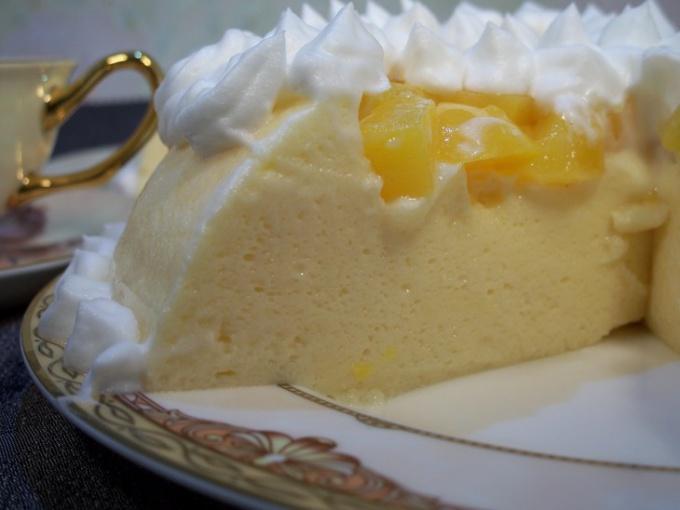 Торт-крем с персиками