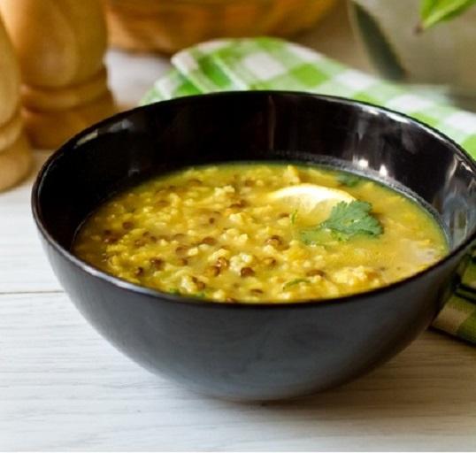 Суп из риса, чечевицы с добавление лимона