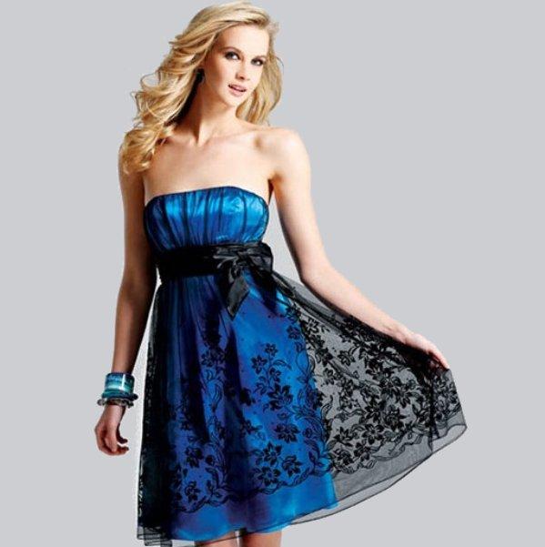 Как и с чем носить платье без лямок