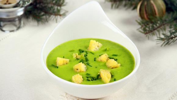 Зеленый гороховый суп-пюре рецепт