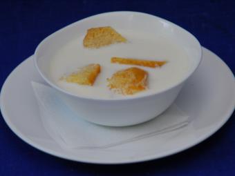 Как приготовить молочный суп с запеченным рисом