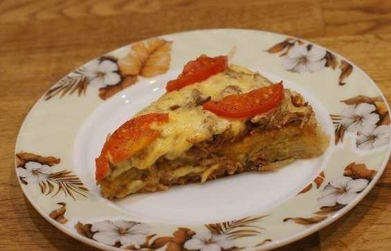 Картофельная пицца на сковороде