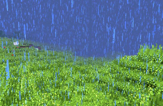 В Minecraft тоже бывает непогода