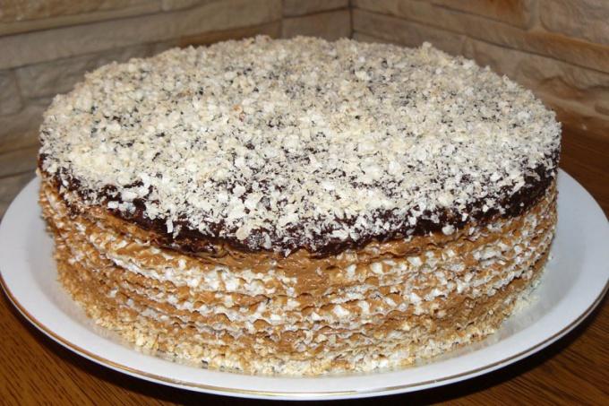 Торт из вафель