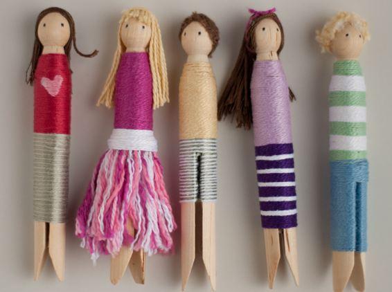 Как сделать кукол из прищепок
