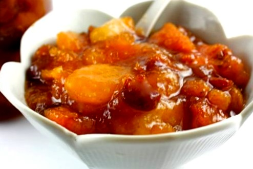 Чатни из абрикосов и изюма