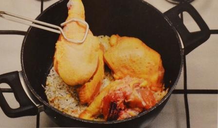 Цыпленок с арахисовой пастой