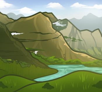 раскрасить горы