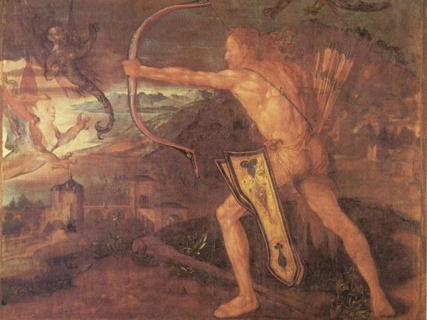 """Картина художника Альбрехта Дюрера """"Геракл и стимфалийские птицы"""""""