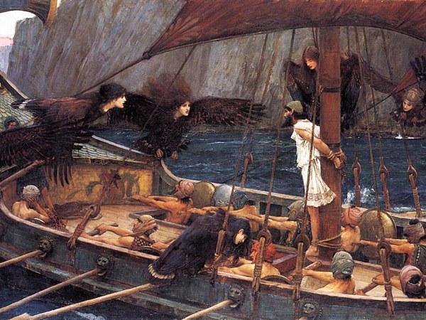 """Картина художника Дж. В. Уотерхауса """"Одиссей и сирены"""""""