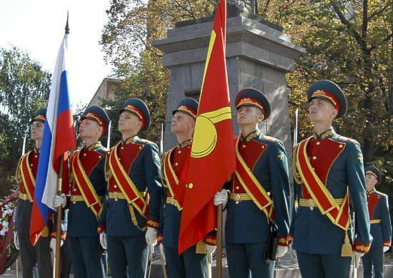 An honor guard of Russia